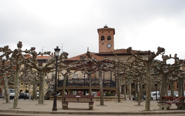 Plaza in Belorado, Spain