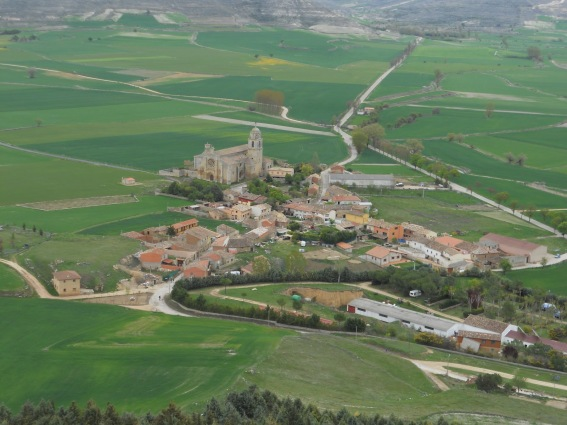 Castrojeriz, Spain from above