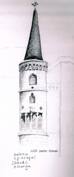 Sketch of the Palacio Episcopal from my journal Jennifer Hofmann