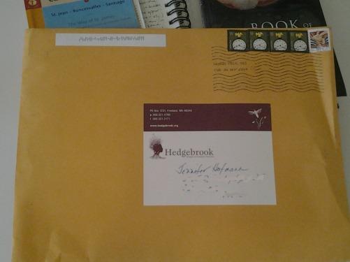 Envelope from Hedgebrook