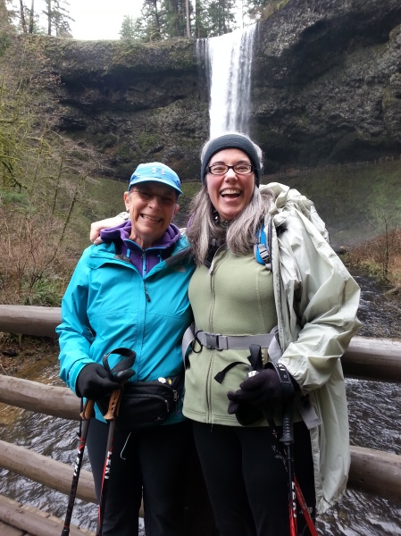 Jen and Nancy at Silver Falls